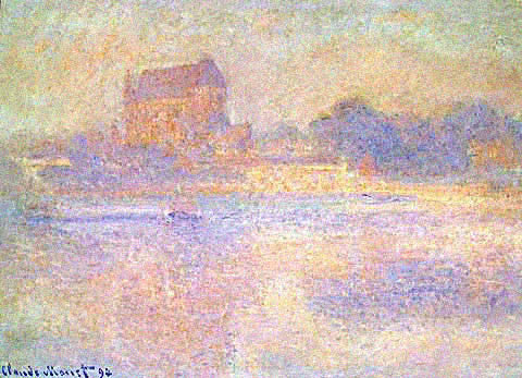 Claude Monet-Church at Vernon Fog