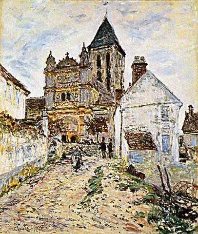 Claude Monet-Church at Vetheuil