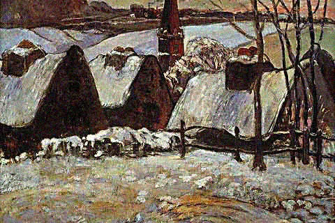 Claude Monet-Church in Snow 1865