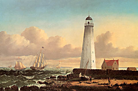 William Bradford-Clarks Point Light New Bedford 1854