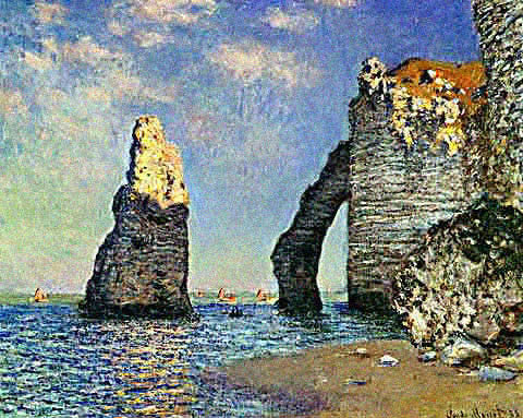 Claude Monet-Cliffs at Etreat