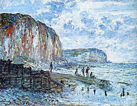 Claude Monet-Cliffs of Les Petites Dalles