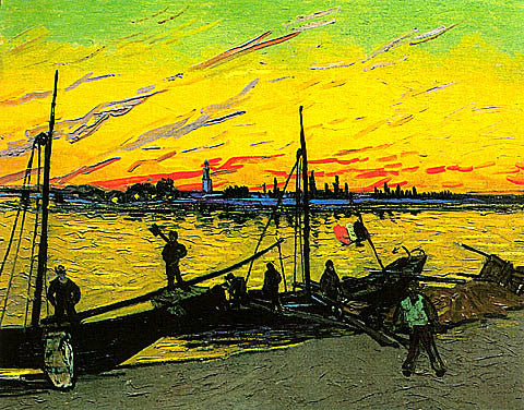 Vincent Van Gogh-Coal Barges