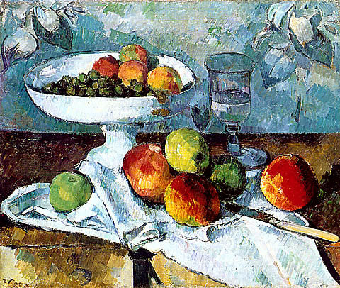Paul Cezanne-Compotier Glass And Apples