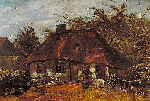 Vincent Van Gogh-Cottage 1885