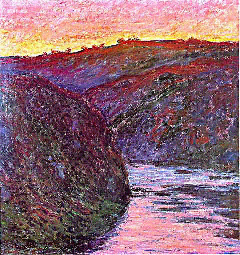Claude Monet-Creuse at Sunset