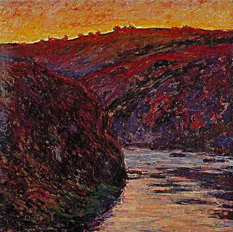 Claude Monet-Creuse Sunset 1889