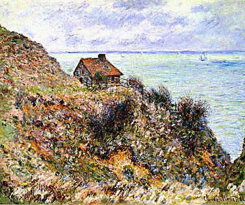 Claude Monet-Customs Officers Cabin at Pourville
