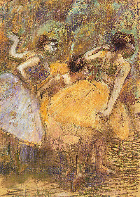 Edgar Degas-Yellow Dancers II