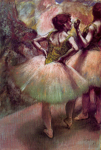 Edgar Degas-Dancers Pink And Green