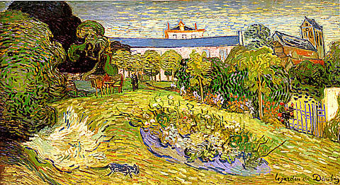 Vincent Van Gogh-Daubignys Garden With Black Cat