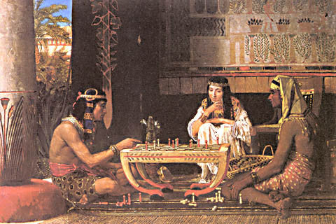 S. L. Alma-Tadema-Egyptian Chess Players 1865