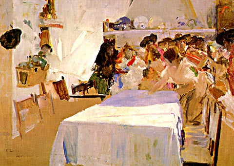 Joaquin Sorolla-The Christening
