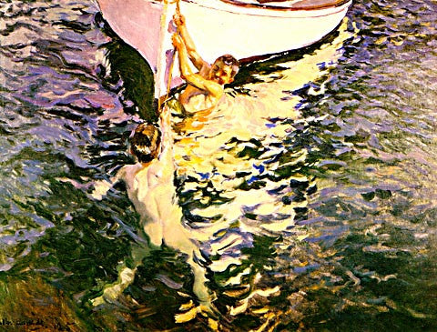 Joaquin Sorolla-The White Boat