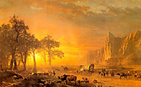 Albert Bierstadt-Emigrants Crossing The Plains 1867
