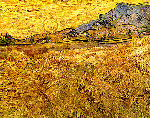 Vincent Van Gogh-Enclosed Field With Reaper