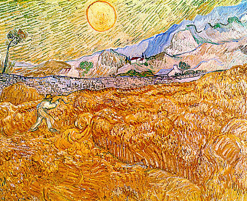 Vincent Van Gogh-Enclosed Field With Reaper At Sunrise