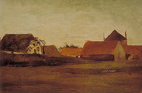 Vincent Van Gogh-Farmhouses 1883