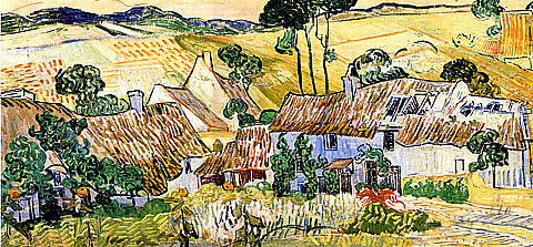 Vincent Van Gogh-Farms Near Auvers 1890