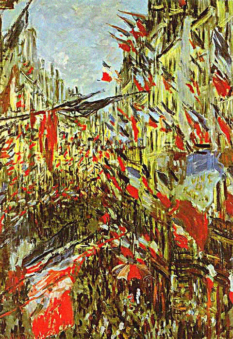 Claude Monet-Festivities in the Rue Saint Denis