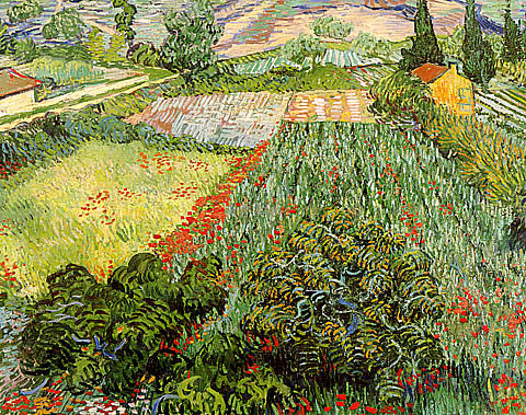 Vincent Van Gogh-Field With Poppies