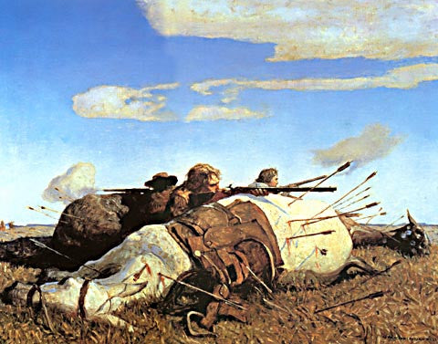 N. Wyeth-Fight On The Plains