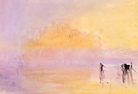 Joseph Mallord William Turner-Figures In A Pink Atmosphere