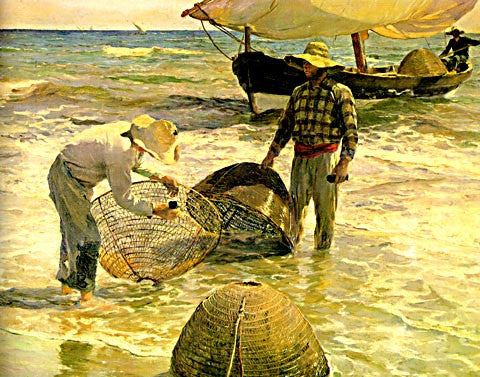 Joaquin Sorolla-Fishermen At The Beach