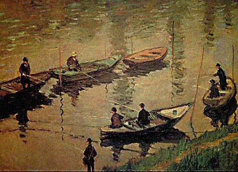 Claude Monet-Fishermen of the Seine 1882
