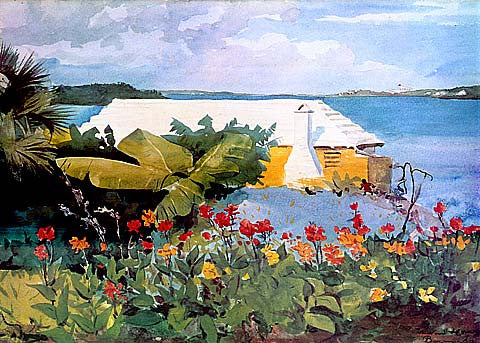 Winslow Homer-Flower Garden And Bungalow