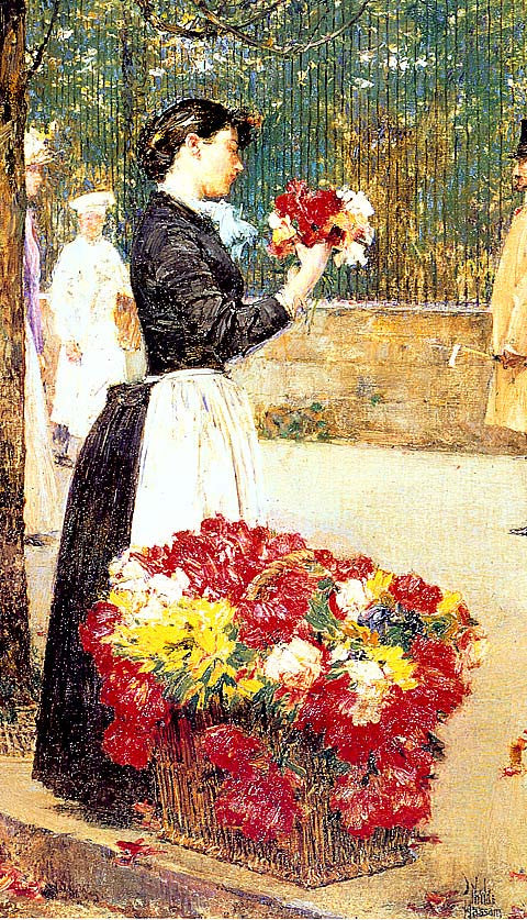 Childe Hassam-Flower Girl