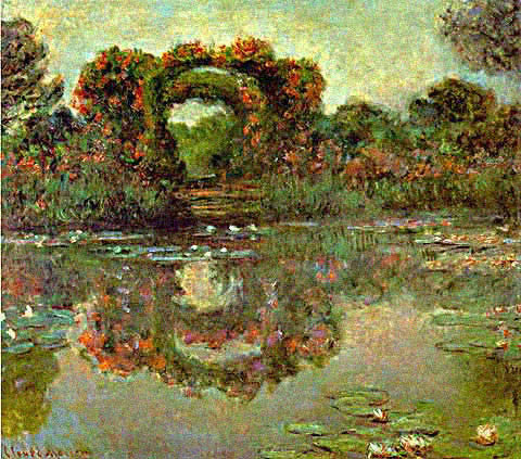 Claude Monet-Flowered Arches at Giverny
