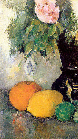 Paul Cezanne-Flowers And Fruit