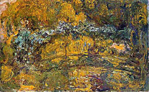 Claude Monet-Footbridge Over the Water Lily Pond