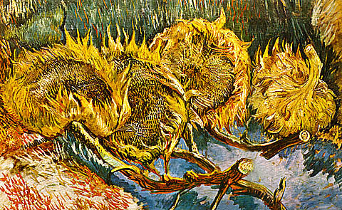 Vincent Van Gogh-Four Cut Sunflowers