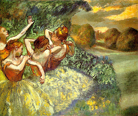Edgar Degas-Four Dancers