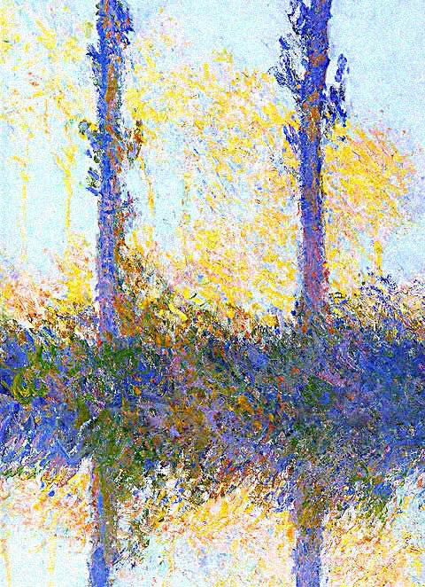 Claude Monet-Four Trees Detail