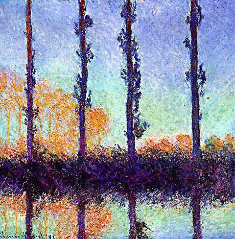 Claude Monet-Four Trees