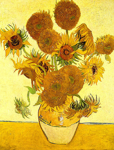 Vincent Van Gogh-Fourteen Sunflowers In A Vase