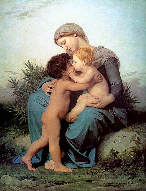 William Adolphe Bouguereau-Fraternal Love