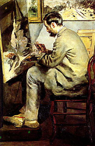 Pierre Auguste Renoir-Frederic Bazille Painting