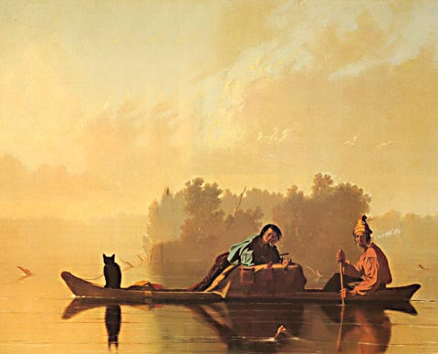 George Caleb Bingham-Fur Traders Descending The Missouri