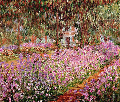 Claude Monet-The Garden at Giverny