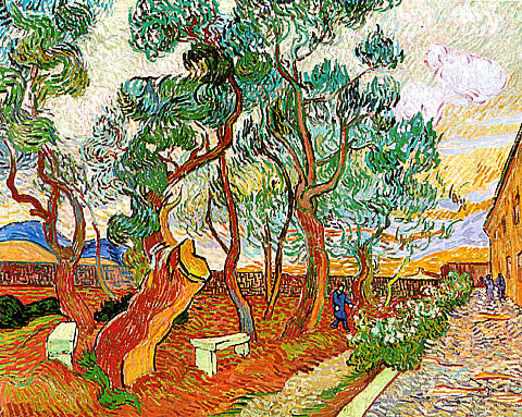 Vincent Van Gogh-Garden Of The Asylum With A Sawn Off Pine Tree