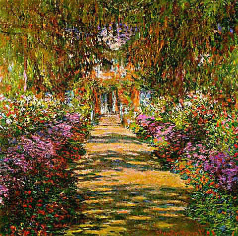 Claude Monet-Garden Path at Giverny
