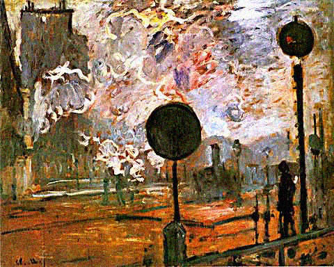 Claude Monet-Gare Saint Lazare the Signal