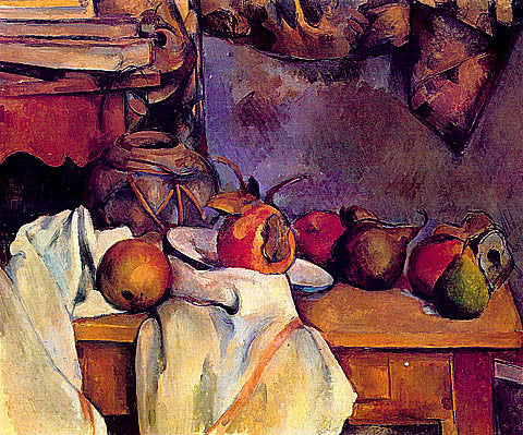 Paul Cezanne-Ginger Pot With Pomegranate And Pears