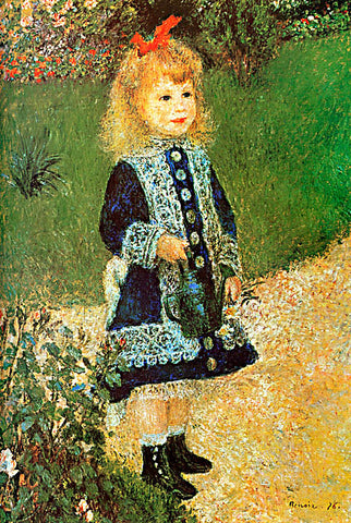 Pierre Auguste Renoir-Girl With Watering Can