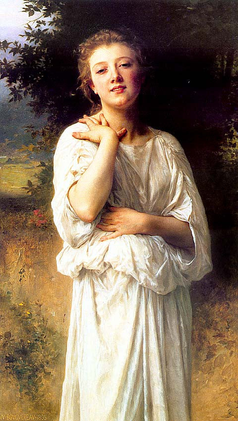 William Adolphe Bouguereau-Young Girl