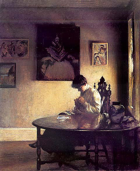 Edmund Tarbell-Girl Crocheting